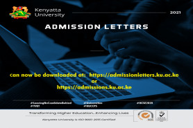 KUCCPS Admission Letters now Available