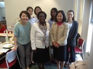 Dr. Nyamu with other guests during a visit to Nagoya UNiversity Japan for HeForShe Seminar 1