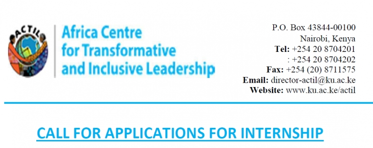 CALL FOR APPLICATIONS FOR INTERNSHIP